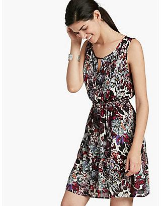 LUCKY FLOWER PRINT DRESS