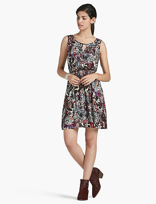 LUCKY FLOWER PRINT DRESS