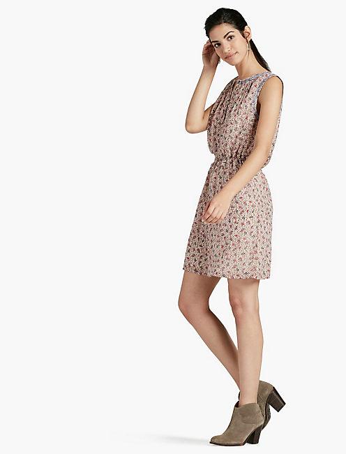 PRINTED PAISLEY DRESS,