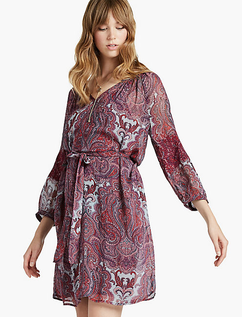 RED PAISLEY DRESS,