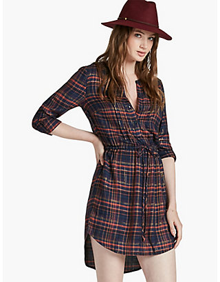 LUCKY GIRLFRIEND PLAID DRESS