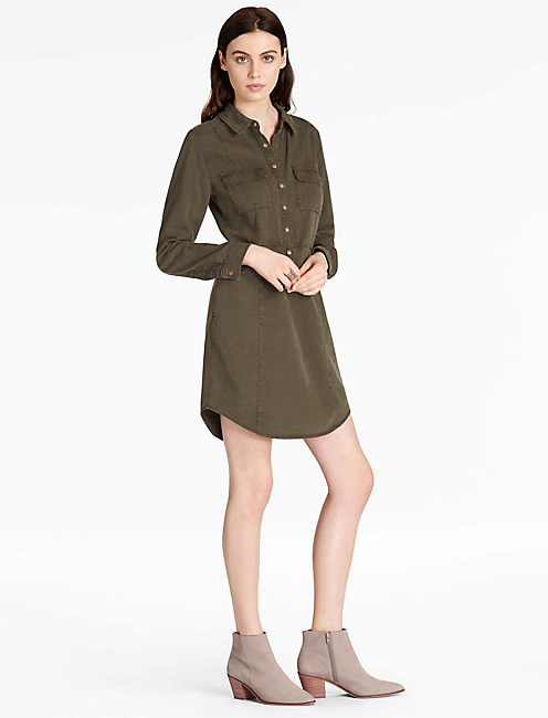 MILITARY SHIRT DRESS,