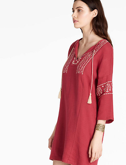 Lucky Embroidered Tassel Dress