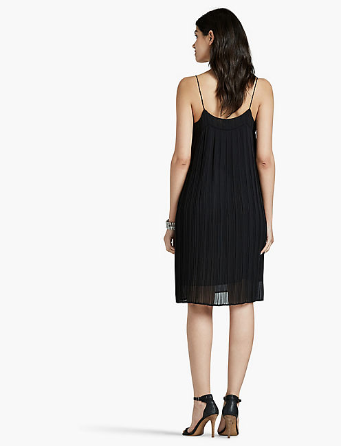PLEATED DRESS, 001 LUCKY BLACK