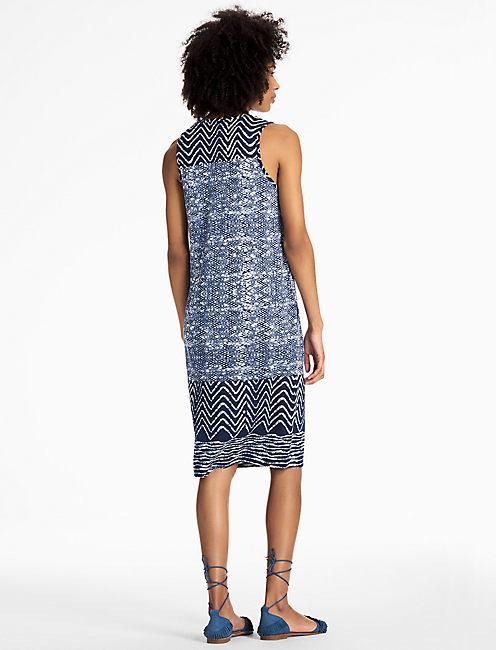 BLUE BATIK DRESS,
