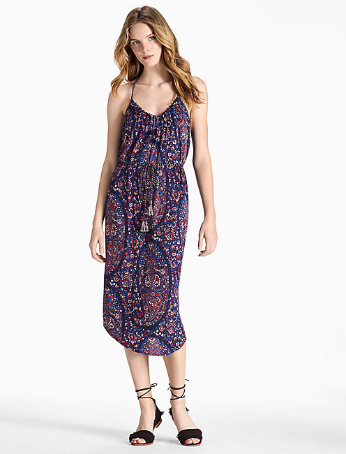 PAISLEY KNIT DRESS,