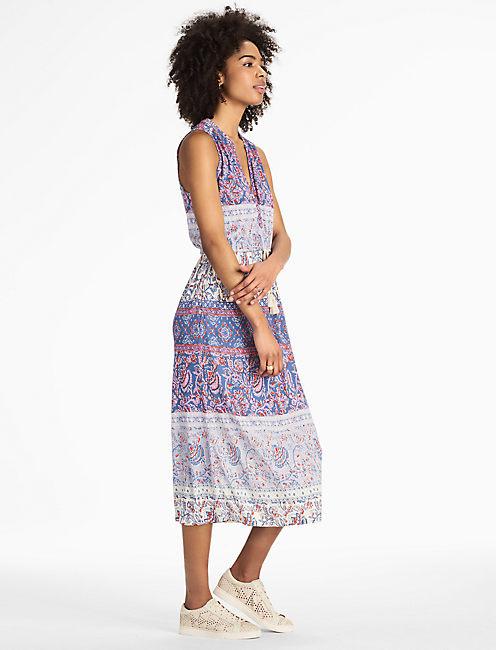 Lucky Floral Print Midi Dress