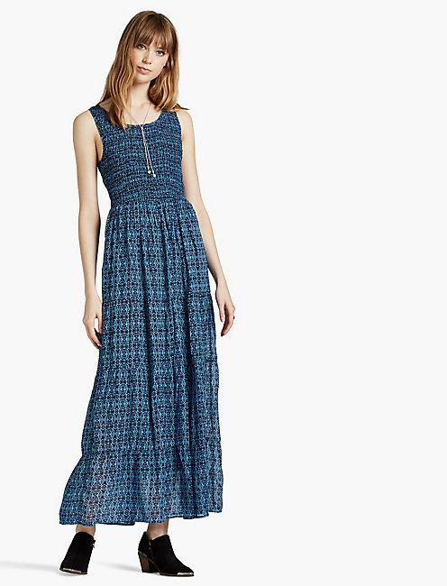 BLUE SMOCKED DRESS,
