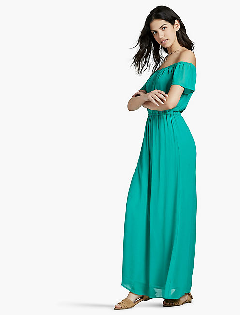 OFF THE SHOULDER MAXI DRESS,