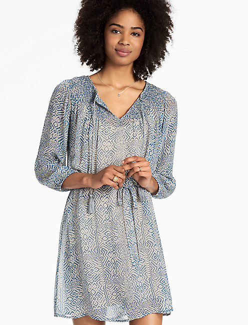 LUCKY BLUE MAZE DRESS