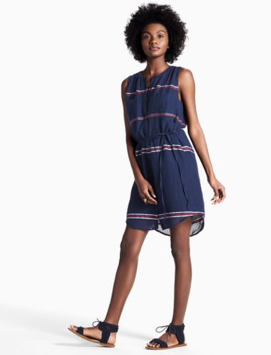 Lucky Stripe Shirt Dress