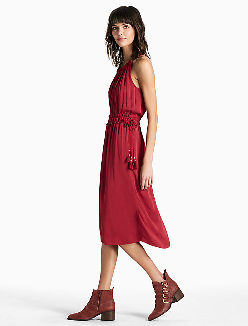 CARMEN DRESS, TIBETAN RED