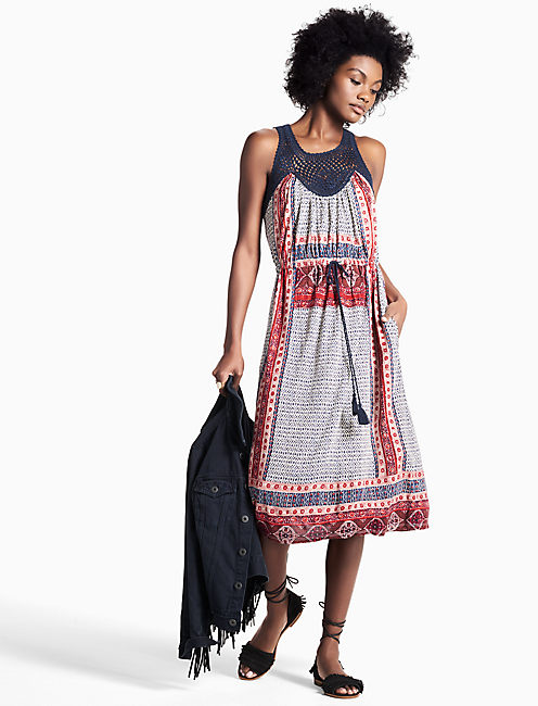 KNIT MACRAME DRESS,