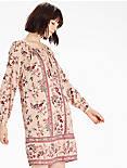 PEASANT DRESS, NATURAL MULTI