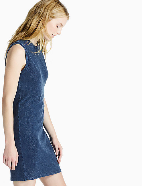 INDIGO KNIT DRESS,