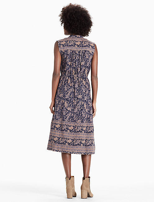 MICHELLE DRESS, NAVY MULTI