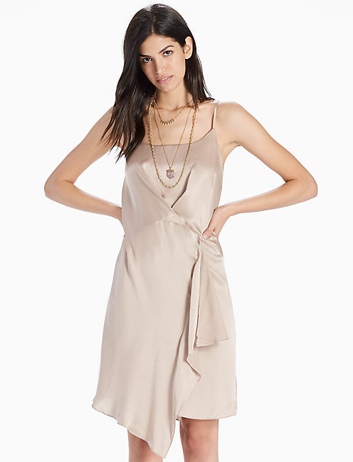 SLIP DRESS, CHAMPAGNE