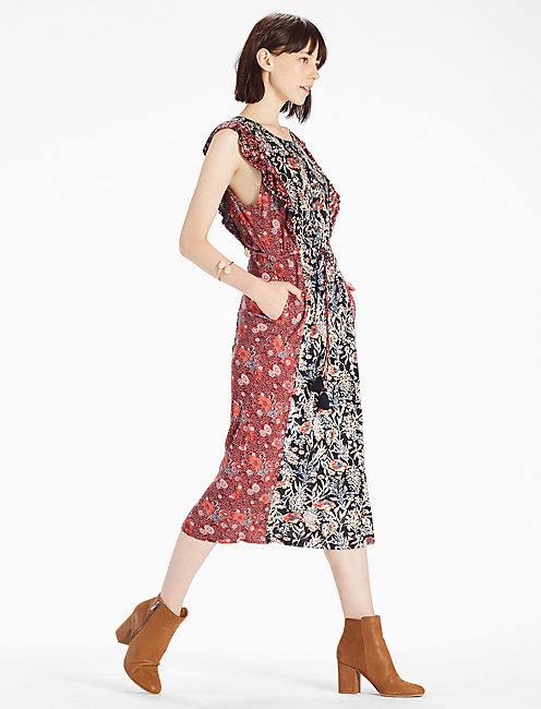 Lucky Mixed Floral  Dress