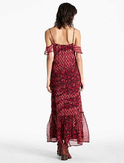 FLUTTER SLV MAXI, RED MULTI