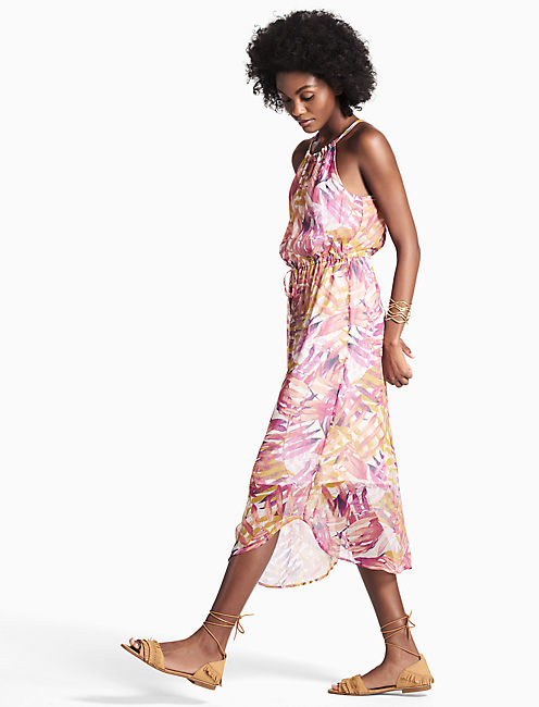 Lucky Palm Print Dress
