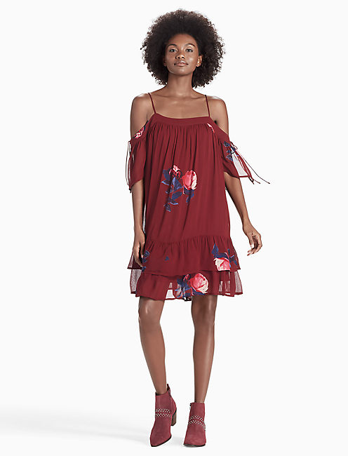 ROSE RUFFLE DRESS,