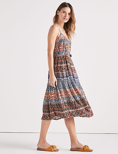 Lucky Mixed Print Dress