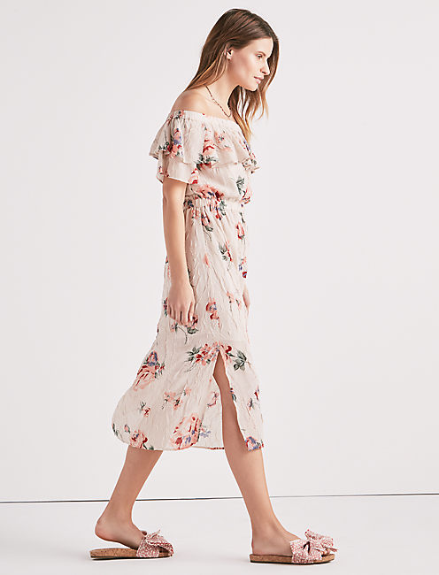 Lucky Off Shoulder Printed Dress