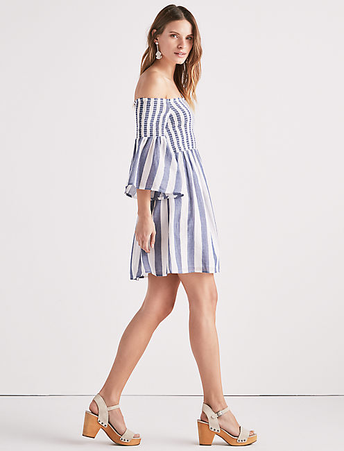 Lucky Striped Smocked Dress