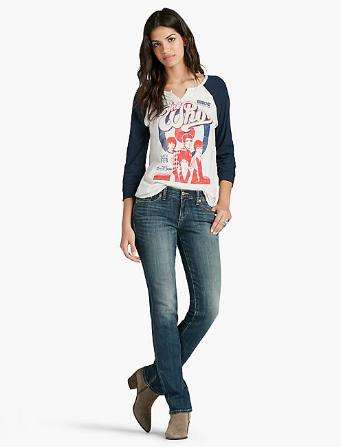 Lucky Sweet Mid Rise Straight Leg Jean In Artesia