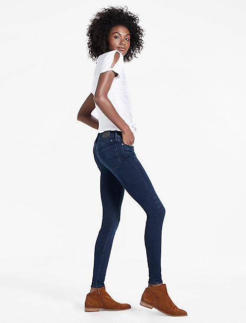 Lucky Brooke Mid Rise Legging Jean In Indigo Spark