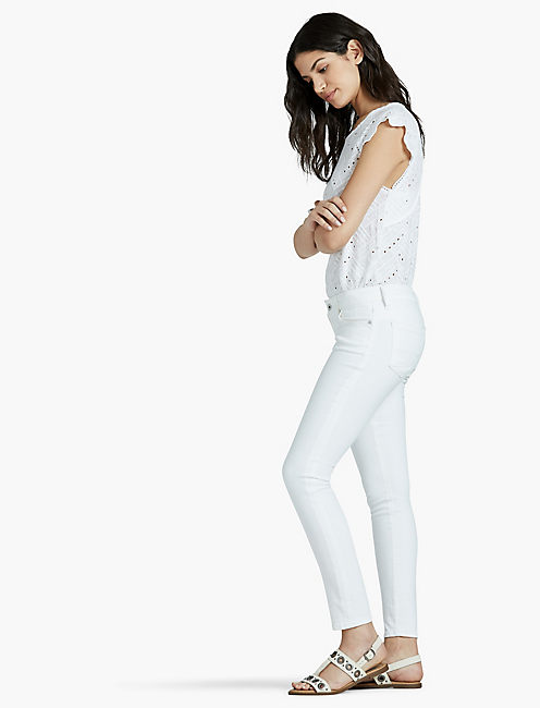 Lucky Lolita Mid Rise Skinny In Clean White