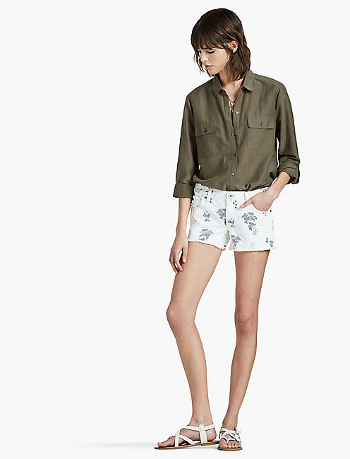 THE CUTOFF SHORT, DESTRUCTED BOTANICAL