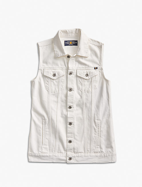 LONG DENIM VEST,
