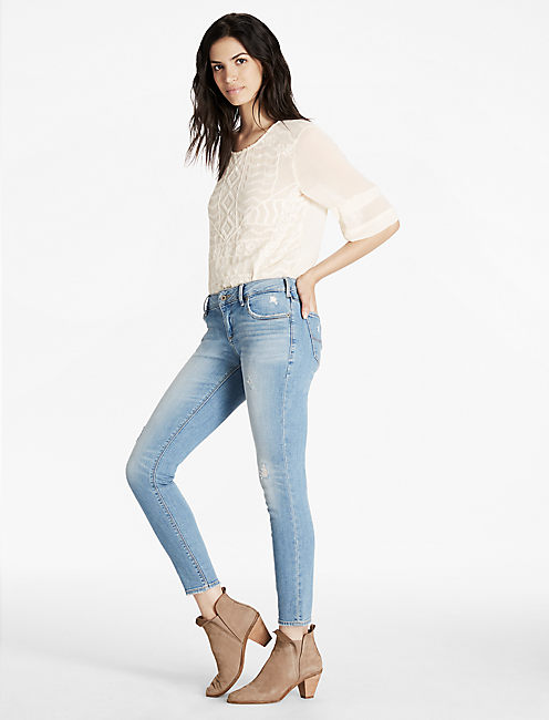 Lucky Lolita Mid Rise Skinny Ankle Jean