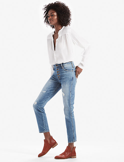 Lucky High Rise Tomboy Jean With Exposed Button Fly