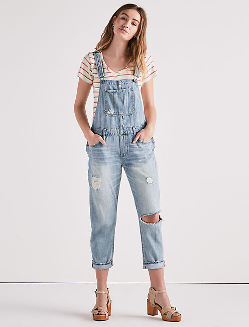Lucky Boyfriend Denim Overall In Amherst