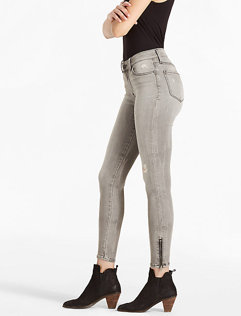 SASHA SUPER SKINNY MID RISE LEGGING JEAN IN LONESOME,
