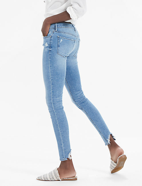 BROOKE MID RISE LEGGING JEAN WITH BACK CHEW,