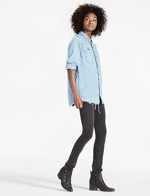 Lucky Denim Boyfriend Shirt With