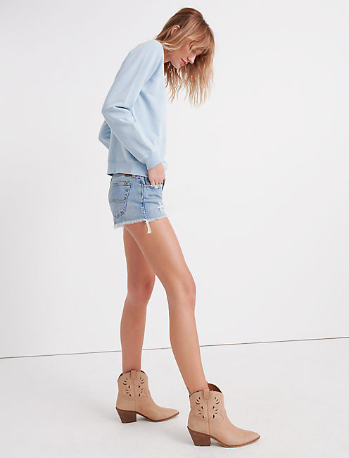 CUT OFF DENIM SHORT IN REYES, REYES