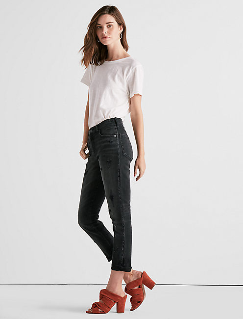 Lucky High Rise Tomboy Cropped Straight Leg Jean In Herome