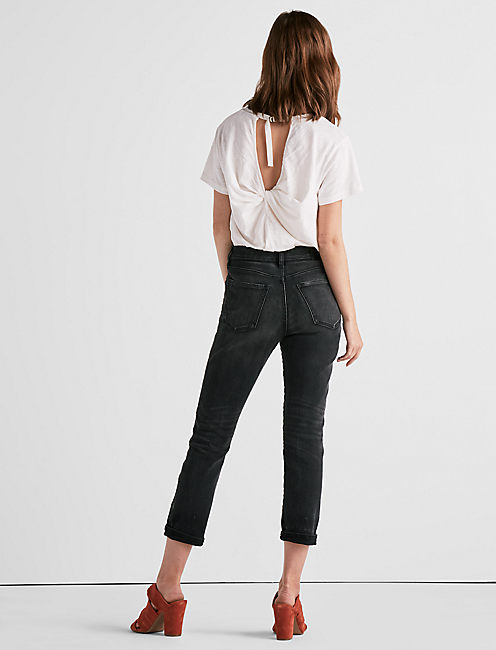 HIGH RISE TOMBOY CROPPED STRAIGHT LEG JEAN IN HEROME,