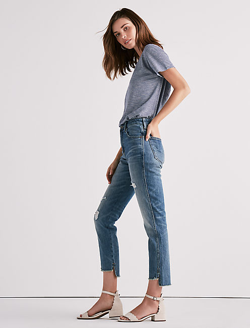 HIGH RISE TOMBOY JEAN IN SAFFORD STEP HEM,
