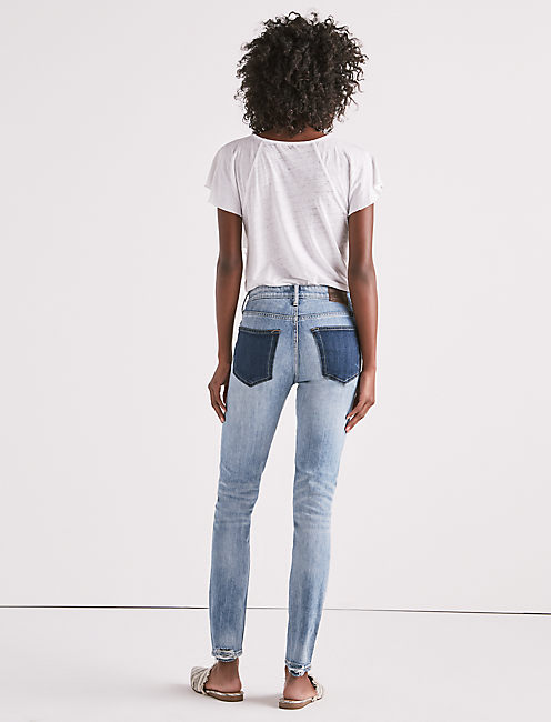 BRIDGETTE HIGH RISE SKINNY JEAN WITH CONTRAST POCKETS,