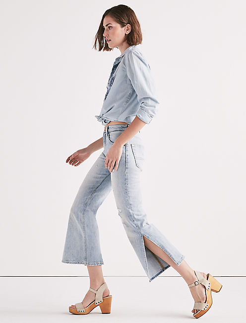 Lucky Lucky Pins High Rise Side Slit Jean In Mira Mar