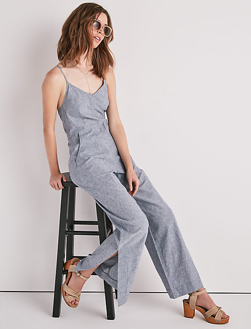 EASY STRIPE JUMPSUIT, BLUE MULTI