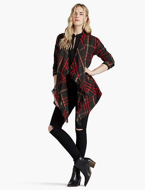LUCKY PLAID FASHION JACKET