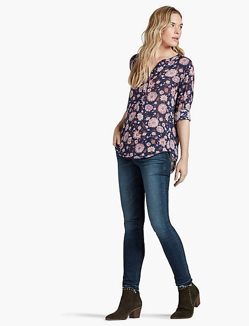 FLORAL POPOVER TUNIC,