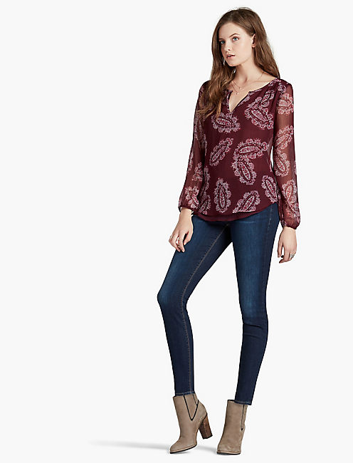 LUCKY DOUBLE LAYER PAISLEY TOP