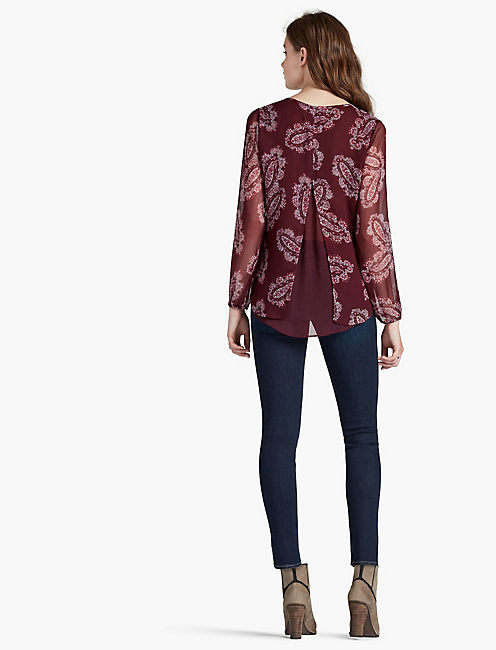 DOUBLE LAYER PAISLEY TOP,
